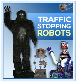 Animated Interactive Promotional Robots