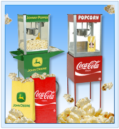 Portable Popcorn Machines and Custom Branded Bags