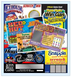Promotional Scratch Cards for Convention and Trade Shows